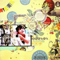 Colorful Days: Kaisercraft DTワーク<The Looking Glassシリーズ>