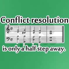 """Conflict Resolution"" Love this.... from CafePress"
