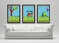 Duck Hunt retro poster set 12x18 by SPACEBARdesigns on Etsy, $37.00