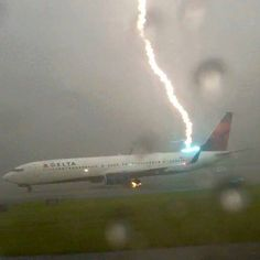 Lightning struck a Delta jet taxiing at Atlanta's Hartsfield Airport Thursday. Everyone was safe, though the lightning bolt had to forfeit some Sky Miles. Via FOX 5 Atlanta — at Hartsfield-Jackson Atlanta International Airport.