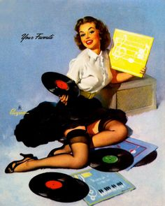 put your records on. #records #vinyl http://www.pinterest.com/TheHitman14/phonograph-kitsch/