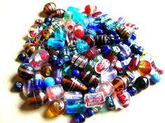 Half Pound Glass Bead Lot - Bohemian Beads - Assorted Glass Beads - Mixed Glass Beads - Half Pound Glass Beads by BohemianGypsyCaravan