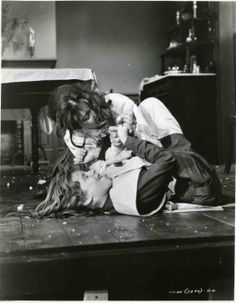 """Anne Bancroft and Patty Duke in """"The Miracle Worker"""" Anne Bancroft - won the Oscar for Best Actress and Patty Duke, Best Supporting Actress in Hollywood Couples, Hollywood Stars, Hollywood Actresses, Classic Hollywood, Patty Duke Show, The Miracle Worker, Anne Bancroft, Disney Icons, Deaf Culture"""