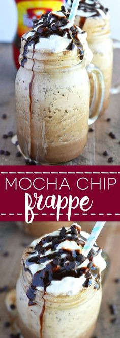 Mocha Chip Frappe - an easy icy way to get your caffeine fix with ingredients you probably already have at home! | From What The Fork Food Blog | whattheforkfoodblog.com | Sponsored by Folgers