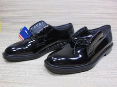 CAPP'S Leather Dress Uniform Military Shoes Shinny Black Gloss Men's Size 9 M  #Capps #Oxfords #WeartoWork