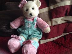 Candy bear made from the pattern by Mary Janes tearoom