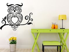 Wall Decals Owl on Branch Childrens Decor Kids Vinyl Sticker Wall Decal Nursery Baby Room Bedroom Murals Playroom Owl Decor ✦ Available size: 22 tall x 26 wide Please note that images dont reflect exact size. The picture is digital example for showing purpose. It helps to see all details of the decal. Please contact me first if you need a different size. Prices may vary.  ✦ COLOR CHOICE! Choose the color of your decal from our color chart that is in the second picture of the listing. And…