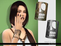 Skeletal Cuff  Found in TSR Category 'Sims 4 Female Bracelets'