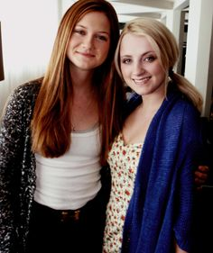 Bonnie Wright and Evanna Lynch! Harry potter throwback                                                                                                                                                                                 Plus