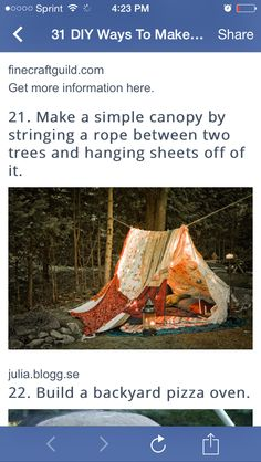 Rope canopy
