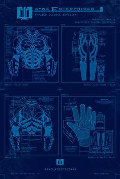 - Batman Art - Fashionable and trending Batman Art - Top secret Bat suit blueprint. Batman Fan Art, Im Batman, Batman Dark, Batman Arkham, Batman Cosplay, Dark Knight, Gotham, Catwoman, Batman Painting