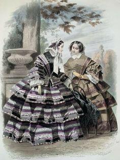 Fashion Plates, Hand Coloring, Fashion Prints, French Antiques, Drawings, Dress, Painting, Art, Paris Fashion