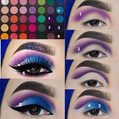 How To Do A Eye Makeup Step By Step such Eyeshadow Makeup In Hindi rather Makeup Tutorial Eyeshadow Colorful Eye Makeup Steps, Makeup Eye Looks, Face Makeup, Makeup Box, Crazy Makeup, Creative Eye Makeup, Colorful Eye Makeup, Pink Makeup, Sweet Makeup