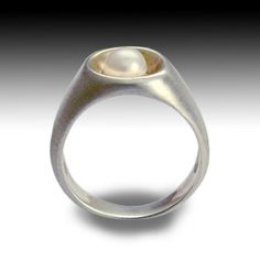 Sterling silver and yellow gold ring with a white by artisanlook