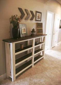 Rustic entry table. Rustic decor. Rustic home. Farmhouse style. Entry table… by amelia