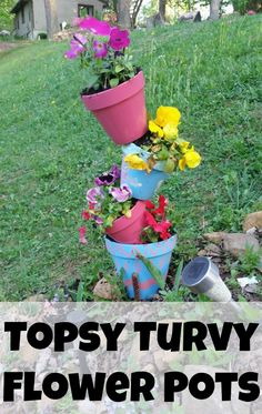 Want a creative way to decorate your yard or to use as a garden decoration, a flower pot craft can be a gorgeous garden decoration.