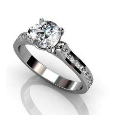 1.50 CT ROUND DIAMOND ENGAGEMENT SOITIARE PROMISE RINGS 14k WHITE GOLD - Design: Amzpr-02248 (RING SIZE: 10)