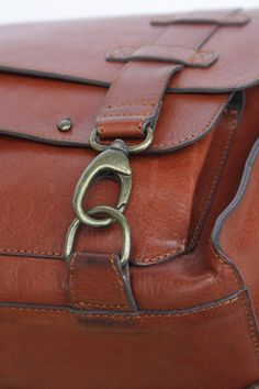 leather bag by malafola - carabiner detail