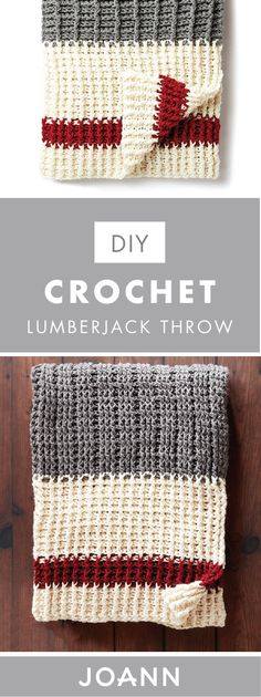 There's nothing like a handmade blanket to cozy up any living space. And this DIY Crochet Lumberjack Throw from JOANN is sure to fit the bill! Grab your choice of yarn and get started creating this piece for your home.