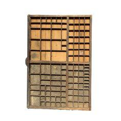 tiroir d'imprimeur en bois : Location de décoration vintage
