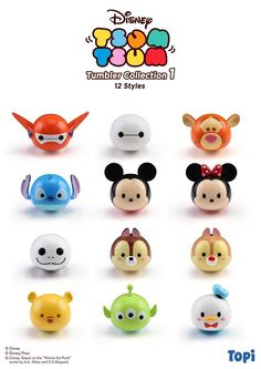 A Closer Look at the new Tsum Tsum Tumbler Figures by Sentinel