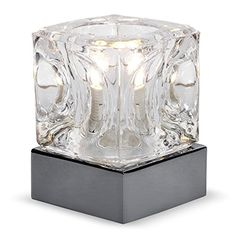 From 11.49 Modern Glass Ice Cube Touch Table Lamp With Black Chrome Base