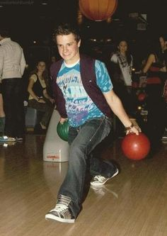 Only Josh would pull off trying to bowl with two balls and not look stupid!