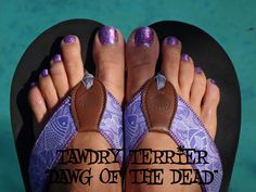 """@TawdryTerrier """"Dawg of the Dead"""" - available at https://www.etsy.com/shop/TawdryTerrier #nailpolish #indienailpolish #tawdryterrier #halloween"""