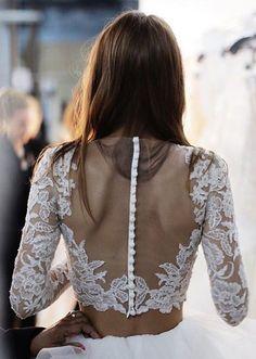 lace & sheer back