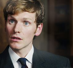 "Shaun Evans, star of ""Endeavour"" on PBS, his classic look, and the requisite riposte out of reach."