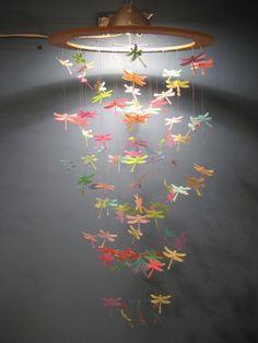 Dragonfly Paper Chandelier/MobileMEDIUM by kismetsunday on Etsy