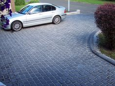 Grey Block Paving, Block Paving Driveway, Stone Driveway, Backyard, Patio, House Front, The Great Outdoors, Landscape Design, Exterior