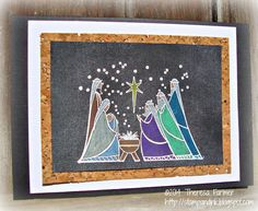 Stamp and Ink: CHALKBOARD NATIVITY