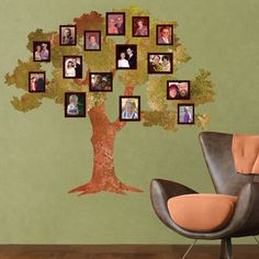 I could paint a way cooler one.. this is a cool idea! -Ash   --Classic Oak Family Tree Wall Sticker 4119.00...