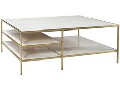 <b> - Dovetail Furniture - AR025B - HIGGINS COFFEE TABLE BRASS</b><br>Dovetail Furniture was founded in 1992 by Charlie Shaw and Ted Einstein and has become one of the largest distributors on the West Coast of fine handcrafted furniture, accessories and textiles from around the world.