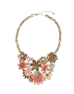 Oasis Cluster Flower Collar Necklace