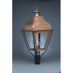 Northeast Lantern Stanfield Chimney Curved Top 1 Light Lantern Head Finish: Antique Brass, Shade Type: Clear
