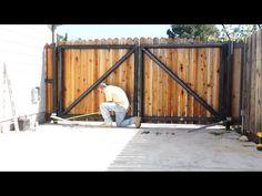 E8 300mm Dual Swing Gate Opener Installation - YouTube
