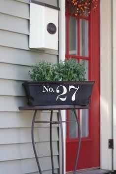 window box house number tutorial!