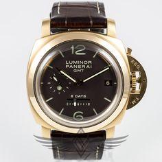 #Panerai PAM00289 Rose Gold 44mm Case 8 Day Power Reserve GMT AM-PM Dot Dial Watch #PAM289 - #OCWatchCompany #WatchStore #WalnutCreek