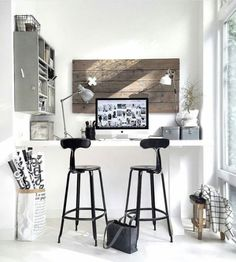 Home office decor is a very important thing that you have to make percfectly in your house. You need to make your home office decor ideas become a very awe Home Interior, Interior And Exterior, Interior Decorating, Interior Design, Workspace Inspiration, Room Inspiration, Interior Inspiration, Morning Inspiration, Design Apartment