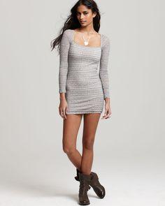 short dress + cute boots:)