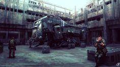 Gatecrasher Repair Picture  (2d, sci-fi, spaceship, soldiers)