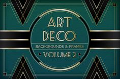 Art Deco Backgrounds and Frames Volume 2 by Christopher King, via Behance