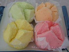 My fave thai dessert - Khanom Pui Fai (fluffy cup) = street food