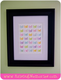 Raising Memories: Tutorial Tuesday (Paper Butterfly Display Frame) WITH TEMPLATE