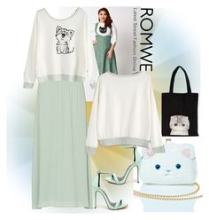 """Romwe"" by vaslida ❤ liked on Polyvore featuring Nila Anthony, Lulu Guinness and plus size clothing"