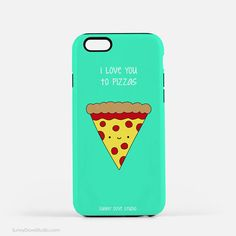 Phone Case iPhone Cases Christmas Gift For Girlfriend BFF Her Teen Girl Funny Cute Pizza Pun Love You Foodie Gifts 7 Plus 6 6s 5 5s 5c s6 s5