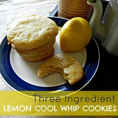 Three Ingredient Lemon Cool Whip Cookies