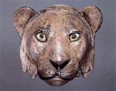 Silver Lion Head -- Circa 2650-2550 BCE -- Excavated from the Royals Tombs at Ur -- Silver, lapis lazuli & shell -- Belonging to the University of Pennsylvania's Museum of Archaeology & Anthropology